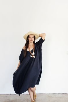 Nada Mas by Rachel Craven and Dafne Balatsos linen dress.