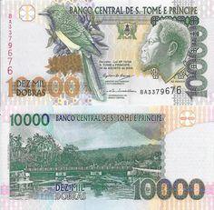 ST TOMÉ PRINCIPE - CÉDULA DE 10000 DOBRAS ANO 2004 - PEÇA EM ESTADO DE…