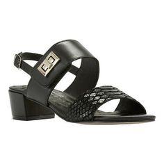 036a14a67b7e Walking Cradles Women s Milan Slingback Black Leather Cobra Print