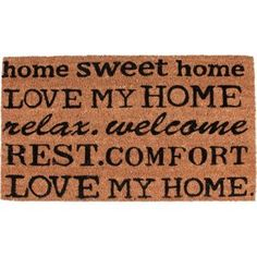 e709e9f39bda Buy Love My Home Doormat 70x40cm - Natural at Argos.co.uk - Your