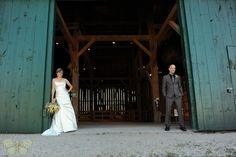 Guelph Wedding Photography at the Wellington County Museum in Fergus. Bride and Groom barn portrait