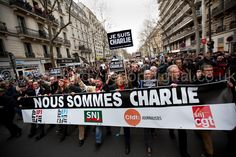 The journalists unions at the fount of the Paris Unity March | Jess Hurd