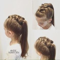 Get Inspired: Fabulous #braids hairstyle done on lil girl, you can borrow for your summer #hair. #hairstyles #hair #hairstylesideas #AfroHairstyles4cHair Girls Hairdos, Baby Girl Hairstyles, Chic Hairstyles, Pretty Hairstyles, Girl Haircuts, Wedding Hairstyles, Hairstyle Men, Hairstyles 2016, Cute Kids Hairstyles