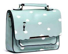 Turquoise hand painted Sky bag for women  limited par Lollytout,  I love this design!