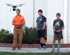 Upper School Drone Practice