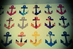 DIY Anchors made from magazine pages -- could be mounted on foam or card stock to make name tags!