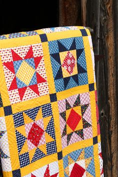 Gingham Girls Fabric and Patterns Star Quilt Blocks, Star Quilt Patterns, Star Quilts, Scrappy Quilts, Easy Quilts, Fat Quarter Quilt Patterns, Sampler Quilts, Block Patterns, Sewing Patterns