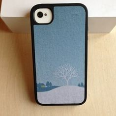 Чехол Speck Winter Wonderland Blue для IPhone 4&4s