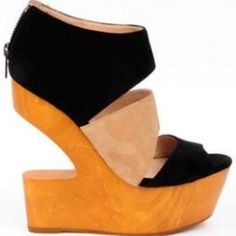 DV8 by Dolce Vita Julia Open Toe Suede Wedge Heel The Julia Shoe in Black. Brand new, never worn! Shoes Heels