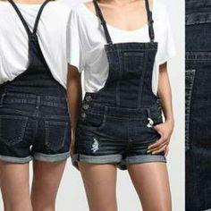 Denim Jumper Shorts. NWOT! Shorts Jean Shorts