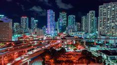 Miami City, Downtown Miami, Night Aesthetic, City Aesthetic, Aesthetic Videos, Beautiful Sunrise, Beautiful Beaches, Beach Video, Fire Image