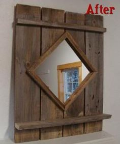 Rustic Barn Mirror - by followyourheart | HomeRefurbers.com :: home improvement, remodeling and building community