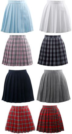 Ladies//Girls Skirt School Uniform Box Pleated Elasticated waist Skirt 2-18yrs