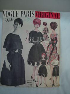 Vtg Vogue 1075 Sewing Pattern PARIS ORIGINAL  Sz 14 PATOU DRESS