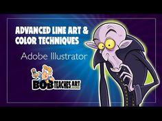Advanced Line Art and Color Techniques in Adobe Illustrator - YouTube
