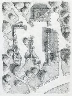 The Ruins near Cragford [pencil] by SirInkman on DeviantArt