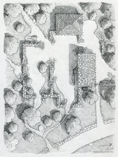 The Ruins near Cragford [pencil] by SirInkman on DeviantArt