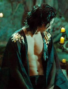 """Lee So-Hyuk as eeeevil vampire Gwi in """"The Scholar Who Walks the Night"""". Got that sexy glam-rock-star look going on."""
