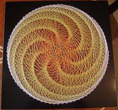 Pictura Vortex Auriu Tablou elegant string art - Ilie Andries