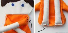 vintage rag doll patterns free download - Google Search