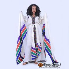 Handspun Ethiopian cotton Handwoven by traditional Ethiopian weavers Handembroiderd Processing time 3-6 weeks Express shipping 3-4 business days Includes meken