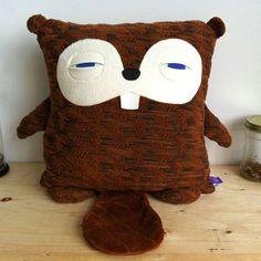 sleepy Beaver pillow by Velvet Moustache - love!