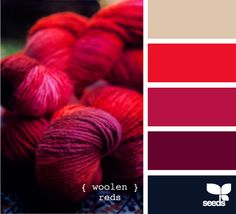 Pretty Valentine color palette...I love the navy blue addition to the typical reds and pinks