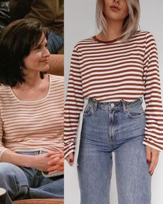 The Effective Pictures We Offer You About monica geller outfits dungarees A quality picture can tell Retro Outfits, Cute Outfits, Rachel Green Outfits, 90s Fashion, Fashion Outfits, Moda Jeans, 90s Inspired Outfits, Tv Show Outfits, 90s Outfit