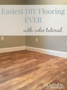 Allure Grip Strip Flooring. It's the easiest flooring ever to put down. Looks great too!