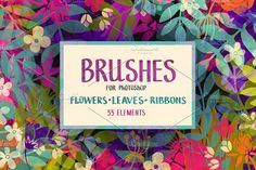 Floral Photoshop brushes by Nataleana on @creativemarket