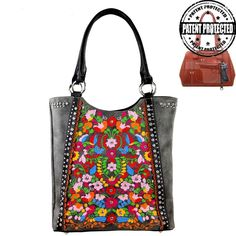 Montana West Colorful Embroidered Concealed Handgun Purse New Western 2016 Style