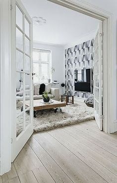 I love how wide this entry is - and love the doors too!