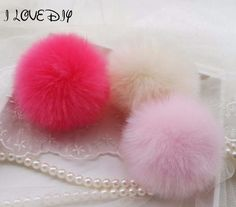 New Pendant Handbag Charm Key Ring Artificial Rabbit Fur Ball PomPom For Phone Car Keychain