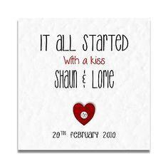 Handmade Personalised Anniversary Valentines Wedding Day Card