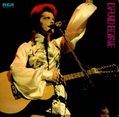 David Bowie as Ziggy Stardust - white kimono with thigh-high boots