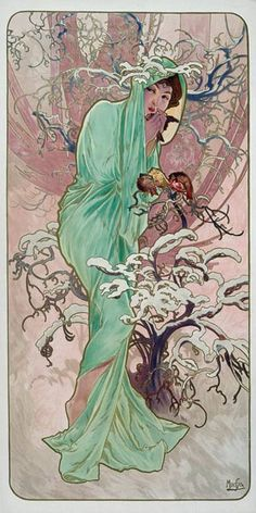 Alphonse Mucha - Seasons: Winter