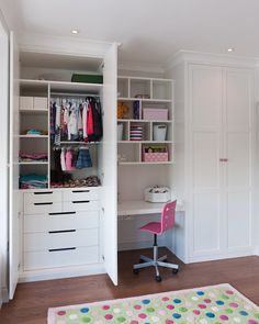 Ideas For Small Closet Storage Nursery Kids Rooms Small Closet Storage, Bedroom Closet Storage, Wardrobe Design Bedroom, Childrens Bedroom Storage, Baby Room Storage, Bedroom Cupboard Designs, Bedroom Cupboards, Build A Closet, Built In Wardrobe