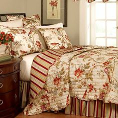 {First Floor Guest Bedroom Ideas} Waverly® Charleston Chirp Quilt Set & Accessories - jcpenney (JCP no longer has it in stock, but google search showed it available other places)