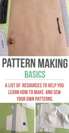 Sewing Techniques Couture Making a basic bodice pattern - A comprehensive collection of pattern making resources that are easy to understand! Sewing Hacks, Sewing Tutorials, Sewing Crafts, Sewing Tips, Sewing Ideas, Sewing Basics, Basic Sewing, Sewing Lessons, Pattern Drafting Tutorials
