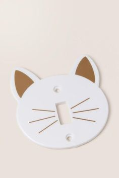 Cat Face Light Switch Plate
