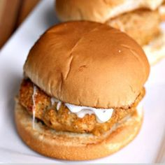 Chicken Ranch Burger       Ingredients 1 lb Ground Chicken 1/2 c. Panko Bread Crumbs 1/4 c. Italian Bread Crumbs 1 Tbsp dried onion 1 tsp Seasoned Salt 1 tsp Garlic Powder 2 Tbsp BBQ Sauce 4 Tbsp Ranch Dressing 2 Tbsp Butter 4 Buns Instructions Preheat your broiler on your oven or grill. In a large bowl mix together […]  Continue reading...    The post  Chicken Ranch Burger  appeared first on  Fun Healthy Recipes .