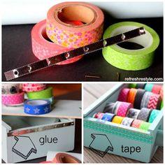 Washi tape organizer