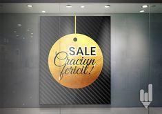 Model afis design afis promotional vitrina centru comercial cu ocazia Sarbatorilor de iarna // Happy SALE by Creative IT Media Model, Design, Home Decor, Decoration Home, Room Decor, Scale Model, Home Interior Design