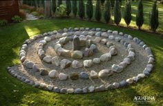 Michele something like this maybe in your garden with the rocks you remove. but I would do it bigger scale and with plantings on the outside