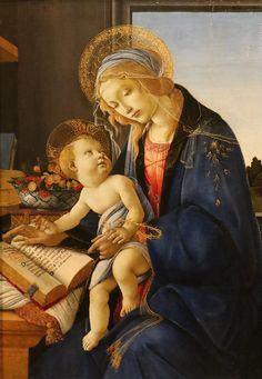 Madonna with the Child by Sandro Botticelli Renaissance Paintings, Renaissance Art, Italian Painters, Italian Artist, Sandro Botticelli Paintings, La Madone, Madonna And Child, A4 Poster, Jesus Pictures