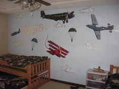 Various Airplanes Wall Murals