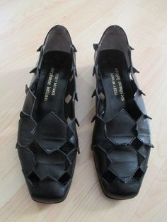 Issey Miyake for Stephane Keilan Origami Cut Out Silhouette Leather Shoes Sz 7 | eBay