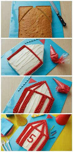 Simple to bake and decorate--an impressive circus-themed centerpiece for your kiddo's next birthday!