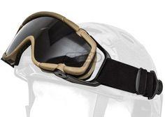 Emerson SI Ballistic Goggles W/ Swivel Clips For Helmet ( Tan )