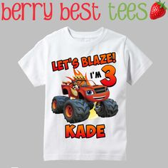 Blaze and The Monster Machines Birthday Shirt by BerryBestTees